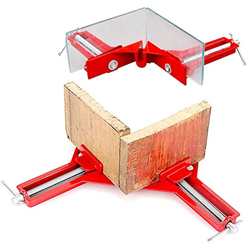 DaJunBao_JP 4個セット コーナークランプ diy 90度アルミ合金 定規 直角 調整可能 木工 メーカー 溶接 骨組み 穴あけ 固定板幅 金具 スコヤ クランプ 防錆