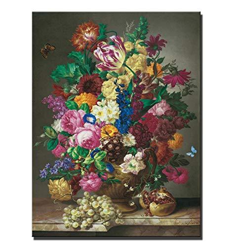 Rincr Bloemen olieverfschilderij canvasdruk abstract klassieke vaas bloemen popkunst wandafbeelding en afdrukken cuadros foto decor