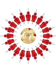 20 Pzs Alimentador Automático de Bebederos de Pezones de Agua de Pollo Alimentador de Pezones de Gallina Style, Vasos de Agua para Gallinas y Aves de Corral, Estilo Rosca, para Bebidas