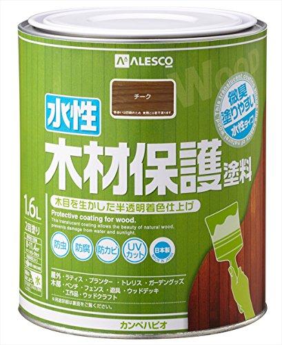 カンペハピオ 水性木材保護塗料 1.6L チーク