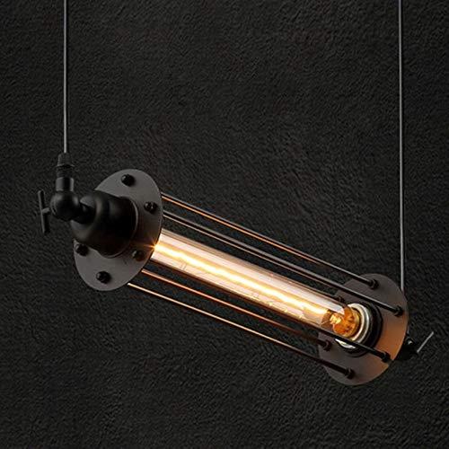 Home Decorazioni Industriali Vintage Flute Lampada sospensione Kitchen Hanging Chain Lampada sospensione Iron Cage E27 Lampada sospensione soffitto Loft Portico Barn Negozio abbigliamento lampadario