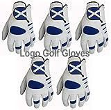 5 guanti da golf con logo scozzese Cabretta in pelle Palm 4 Uomini Small Medium Large XL (S, sinistra)