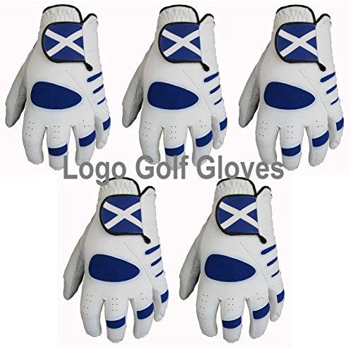 Gator 5 Herren-Golfhandschuhe, Schottland-Logo, Handfläche aus Cabretta-Leder, Größen S, M, L, m