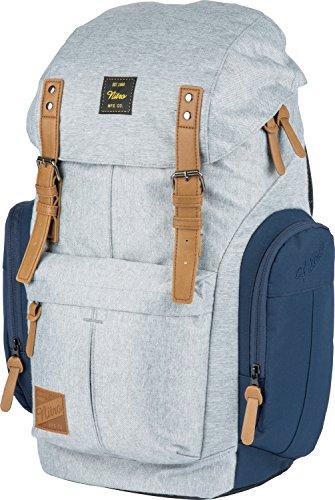 Nitro Schulrucksack Daypacker Alltagsrucksack im Retro Look mit Gepolstertem Laptopfach, Schulrucksack, Wanderrucksack oder Streetpack, Größe und Schnitt ideal für Frauen, 32 L, Morning Mist