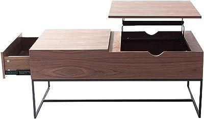 UVANART X Collection Lift Top Coffee Tables - Walnut - 110 x 60 x 46.5 cm - O350