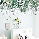 BLOUR Fresco, Verde, Verde, Tropical, árbol de Rafia, Hojas, Etiqueta de la Pared, Vinilo, Arte Mural, Pegatina para la Sala de Estar, Dormitorio, Tatuajes de Pared