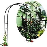 WOCAO Arcos de Jardín, Arco de Jardín de Hierro Forjado, Fácil de Montar, Marco de Enredadera Utilizado para Plantas Trepadoras, Rosas, Enredaderas, Césped al Aire Libre