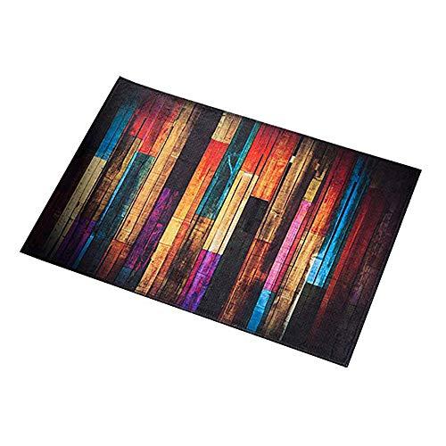 Amasawa Tappetino per Il Bagno,Zerbino Antiscivolo per Tappeti da Cucina,Tappetino da Cucina Antiscivolo ad Asciugatura Rapida Tappetino da Bagno (Strisce Colorate, 40 x 60 cm)