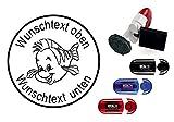 Taucherstempel « comic FISCH » mit persönlichem Namen & Tauchspruch - Abdruckgröße ca. Ø 24 mm...