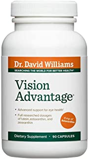 Dr. David Williams' Vision Advantage Eye Health Supplement, 90 Capsules (30-Day Supply)
