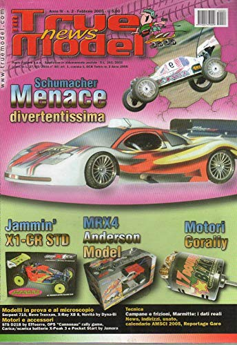 TM News True Model 2 febbraio 2005 Serpent 710-Jammin X1-CR STD-Revo Traxxas