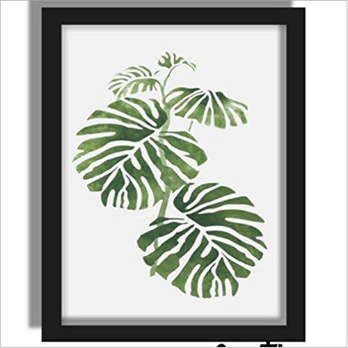 MINRAN DECOR BL Stampe su Tela Dipinti ad Olio Moderna della Parete di Arte su Tela paesaggi dalla Mano della Decorazione/Verde pianta Lascia 712371, 2, 40x50cm