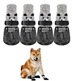 EVIICC Dog Socks Rubber Anti-Slip Sole Waterproof...