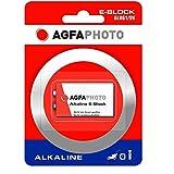 Agfaphoto Batería Alcalina, E-Bloque 6Lr61, 9V Power Extreme, Ampolla Al Por Menor (1-Pack)