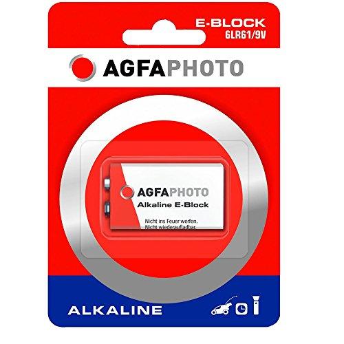 Agfaphoto Batería Alcalina, E-Bloque 6Lr61, 9V Power Extreme, Ampolla Al Por Menor...