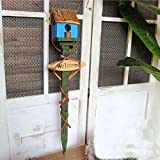 Equipo diario Casa de madera para pájaros Casa de madera para pájaros Caja creativa para pájaros Jardín Casita para pájaros Nido de pájaro Retro Casa de árbol de madera maciza Arreglo floral para j
