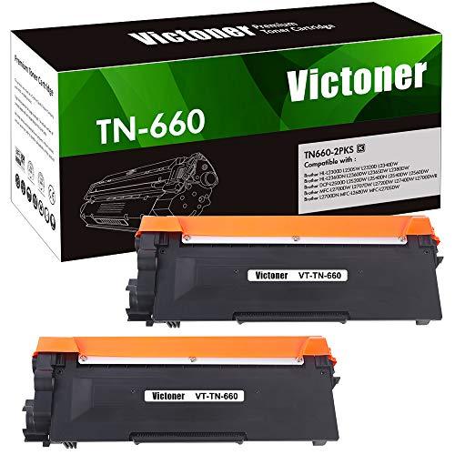 Victoner Compatible Toner Cartridge Replacement for TN660 TN-660 TN630 for Brother HL-L2380DW HL-L2300D HL-L2320D HL-L2340DW MFC-L2700DW MFC-L2740DW L2707DW DCP-L2540DW Printer Toner (Black, 2-Pack)