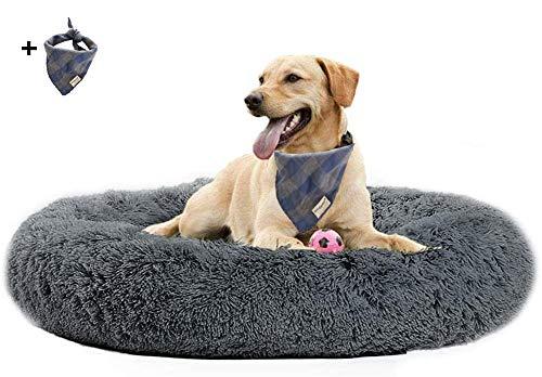 Cuccia soffice per cani, grande, lavabile, effetto calmante, cuscino in peluche per cani di taglia media e grande