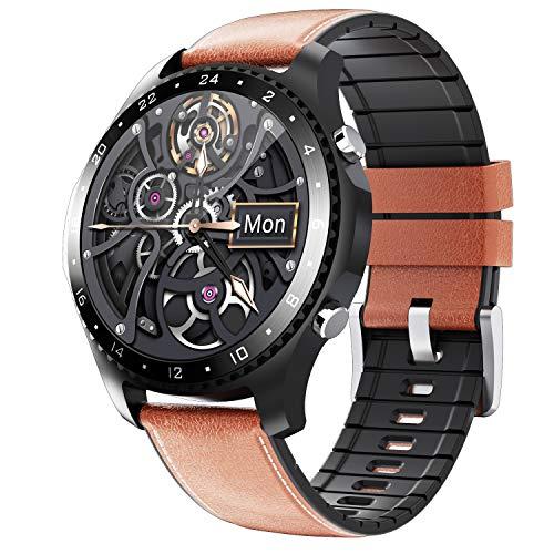 Phipuds Smartwatch Uomo Donna, 1.28   Full Touch Orologio Fitness Activity Tracker, Chiamate Bluetooth,Impermeabil IP67, Cardiofrequenzimetro, Notifiche Messaggi, Controllo della Musica,Pedometro