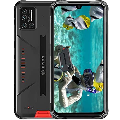 Rugged Smartphone, UMIDIGI BISON IP68 e IP69K Impermeabile Antipolvere Cellulare, 6,3 Pollici FHD+ Telefono a Schermo Intero con 5000mAh Batteria e 48MP Fotocamera Quadrupla 8+128GB Cellulare Antiurto
