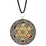 Art of Creation Orgone Energy 7 Chakra pendant With Metatron Cube SBB Coil For Women And Men   Negative Energy Protection   Orgonite Balancing Chakra   Revitalization and Relaxation   Healing Crystal Reiki Charged Yoga Jewelry