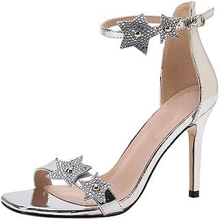 e01c5fb6e Amazon.fr : talon - Argenté / Sandales / Chaussures femme ...
