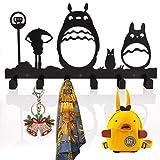 MATT SAGA Perchero de Pared con 6 Ganchos, Perchero Decorativo para Sala Cocina Baño, Organizado para Chaquetas Sombreros Batas Toallas Llaves