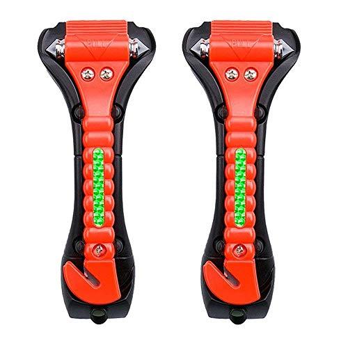 TONWON Auto Sicherheits Hammer, Notausstie gswer kzeug mit Auto fensterbrecher und Sicherheits gurtschneider, ABS Kohlen stoffstahl Escape Hammer (LV835)