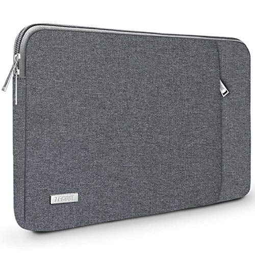 TECOOL 14 inch Laptop Sleeve Case Notebook Protective Cover with Accessory Pocket for HP Stream EliteBook 14, Lenovo IdeaPad ThinkPad 14, Acer Aspire Chromebook 14, Dell Inspiron, Dark grey