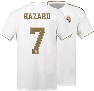 Mens Hazard Jersey 7 Real Madrid 2019-2020 Adult Soccer Home Eden