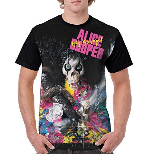 Alice Cooper Hey Stoopid Music Man Fashion Short-Sleeved Print T-Shirt 6XL
