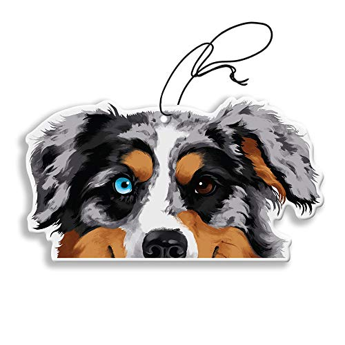 WIRESTER Hanging Air Freshener for Car, Home, Bathroom, Office, Decorative Charm Ornaments, Merle Aussie Australian Shepherd Dog