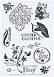MSE Y581 Forever Grateful My Sentiments Exactly Stamps Sheet, 4' by 6', Clear