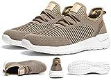 ZKPZYQ Zapatillas de correr para hombre y mujer, zapatillas de deporte para caminar, transpirables, para caminar, trail, fitness (45, marrón)