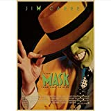 SLFWCLH Jim Carrey Retro Poster Die Truman Show Die Maske