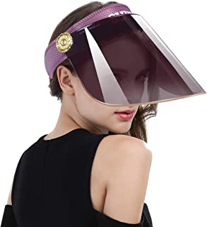 Women Anti-UV Visor Hat UPF40+ Solar Sun Protection Headband Summer Cap
