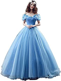Women's Lace up Ball Gown Long Quinceanera Dress with Pleated Straps