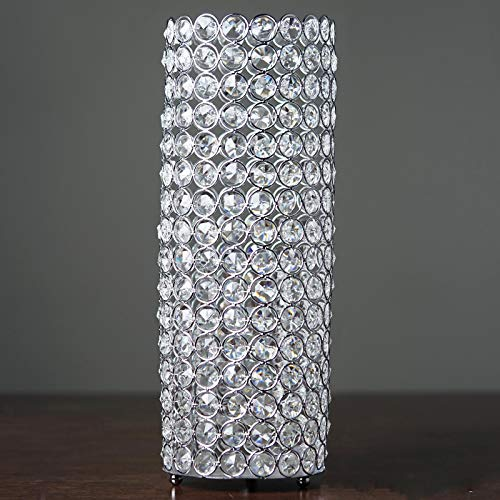 Wedding Venue Shop Fully Beaded Crystal Candle Holder - 16' | Silver | Pack of 1 (CHDLR_CAND_010_SILV)