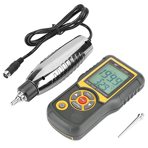 mechanical vibration meters HT-1201 Digital Vibration Meter Vibrometer Acceleration Sensor Gauge Analyzer Tester for Vibration Speed Acceleration Displacement