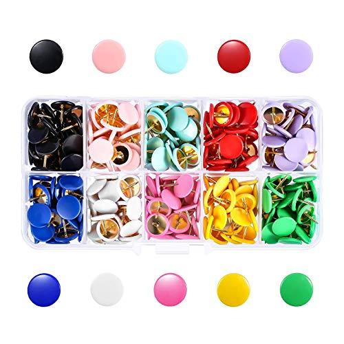 Bonarty 300 Piezas de Alfiler de Color Chincheta Tachuelas Carteles Imagen Material de Oficina