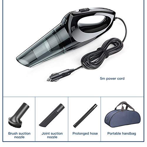 Handheld Hand Cordvacuumer, Tragbarer Auto-Staubsauger, 4000PA Saugstarker Auto-Staubsauger, 3 Zubehörteile, Mit Tragetasche, LED-Licht