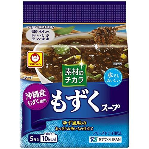 東洋水産 マルちゃん 素材のチカラ 沖縄産もずくスープ (3.6g×5食)×6袋入×(2ケース)