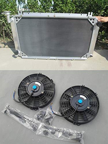 Radiador de aluminio + ventiladores para Patrol GQ 2.8 4.2 DIESEL TD42 y 3.0 PETROL...