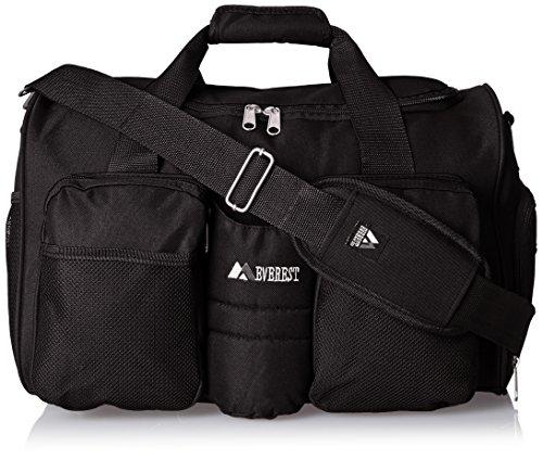 Everest Gym Bag with Wet Pocket, Black