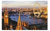 ロンドンアイウェストミンスターブリッジキャンバスウォールアートポスターカスタムHdプリント部屋の装飾寝室の装飾家の装飾-60X80Cmフレームレス