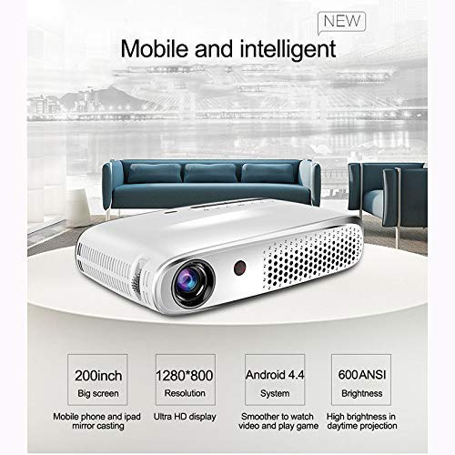 Full HD Projector met Bluetooth wifi kan hetzelfde scherm Ondersteuning 3D, TV Stick, PS4, Xbox,Laptop en Smart Phone met VGA, AV, USB, 2 HDMI-poorten