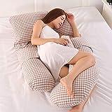 AEIL Almohada en forma de G para mujer embarazada de costado, extraíble,...