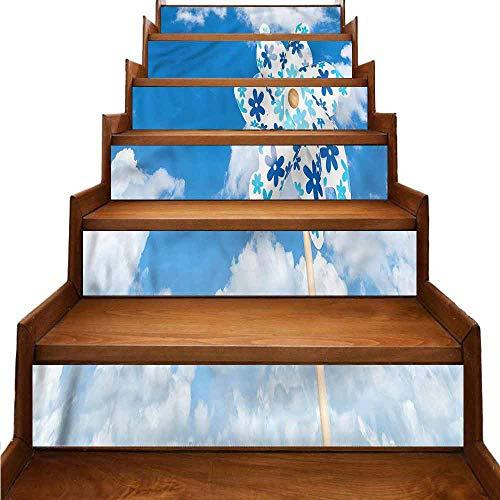 JiuYIBB - Pegatinas de vinilo para escaleras, diseño de cebra rosa