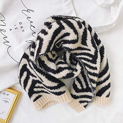 Sjaal Vrouwelijke Winter Student Warm Wild Leuke Dikke Wollen Zebra Print Sjaal