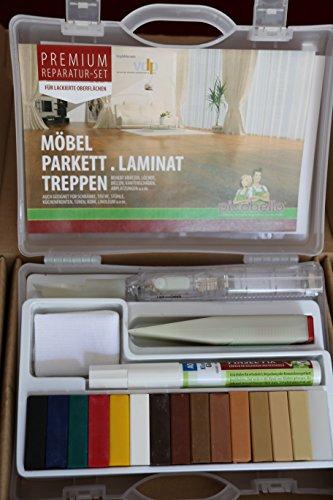 Picobello G61403 Holz Reparatur Set (Premium) -Parkett Laminat Möbel Treppen-für lackierte Oberflächen